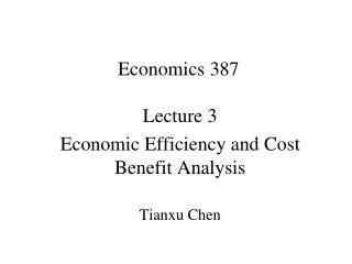 Economics 387