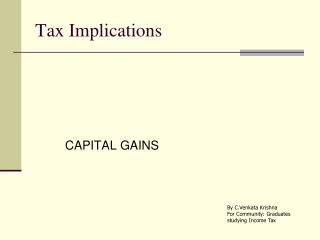 Tax Implications