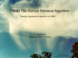 TRMM TMI Rainfall Retrieval Algorithm
