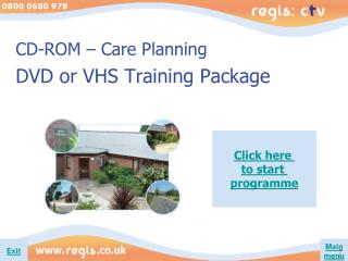 CD-ROM – Care Planning DVD or VHS Training Package