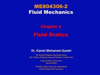 ME804306-2 Fluid Mechanics