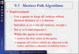 9.3   Shortest Path Algorithms