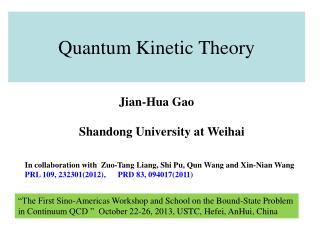 Quantum Kinetic Theory