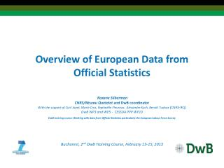 Overview of European Data from Official Statistics