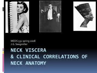 Neck Viscera   clinical correlations of neck anatomy