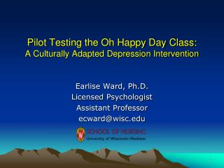 Pilot Testing the Oh Happy Day Class: A Culturally Adapted Depression Intervention