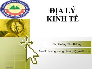 GV: Hoàng Thu Hương