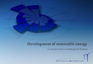 Development of renewable energy
