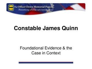 Constable James Quinn