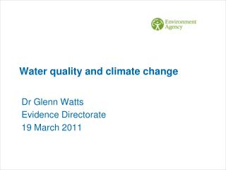 Water quality and climate change