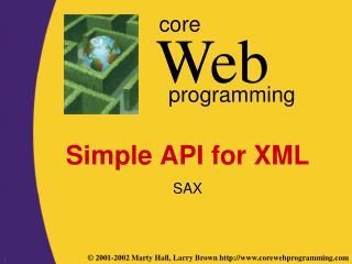 Simple API for XML