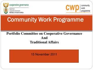 Community Work Programme