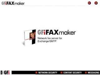 Network fax server for Exchange