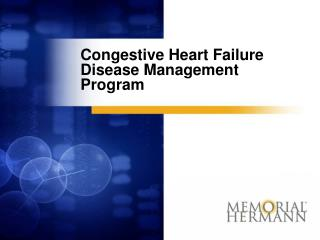 Congestive Heart Failure Disease Management Program