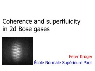 Coherence and superfluidity in 2d Bose gases