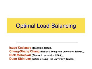 Optimal Load-Balancing
