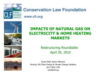 IMPACTS OF NATURAL GAS ON ELECTRICITY & HOME HEATING MARKETS