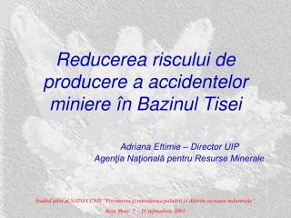 Reducerea riscului de producere a accidentelor miniere în Bazinul Tisei