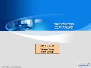 Introduction CLP-770ND