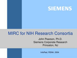 MIRC for NIH Research Consortia