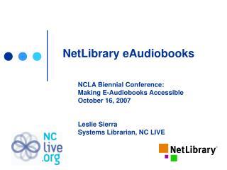 NetLibrary eAudiobooks
