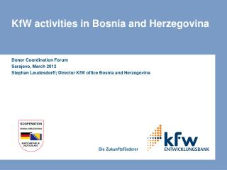 KfW activities in Bosnia and Herzegovina