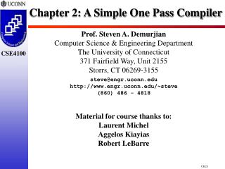 Chapter 2: A Simple One Pass Compiler