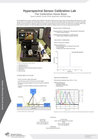 Hyperspectral Sensor Calibration Lab	 The Calibration Home Base