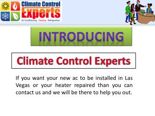 Climate Control Experts - AC repair & installation