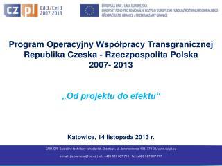 CRR ČR, Společný technický sekretariát, Olomouc, ul. Jeremenkova 40B, 779 00, cz-pl.eu