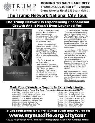 The Trump Network Is Experiencing Phenomenal Growth And It Hasn't Even Launched Yet!