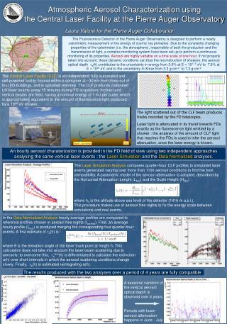 Atmospheric Aerosol Characterization using