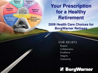 Your Prescription for a Healthy Retirement 2009 Health Care Choices for BorgWarner Retirees