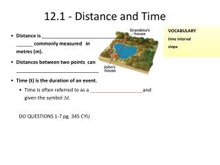 12.1 - Distance and Time