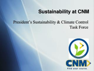 Sustainability at CNM