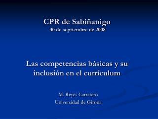 M. Reyes Carretero Universidad de Girona