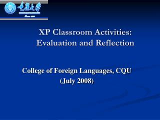 XP Classroom Activities: Evaluation and Reflection