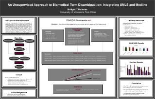 An Unsupervised Approach to Biomedical Term Disambiguation: Integrating UMLS and Medline