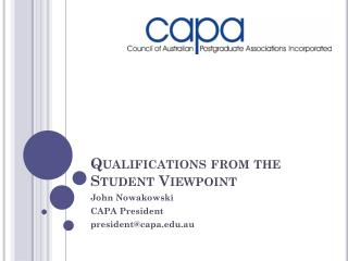 Qualifications from the Student Viewpoint