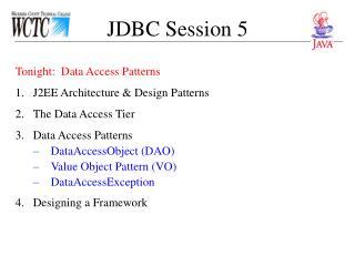 JDBC Session 5