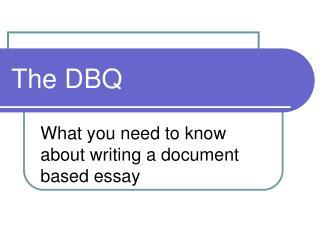 The DBQ