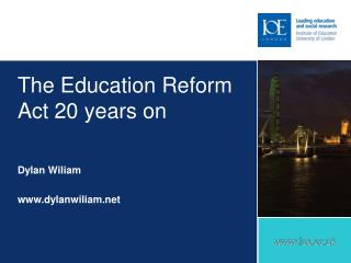 The Education Reform Act 20 years on