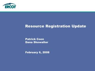 Resource Registration Update