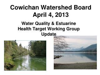 Cowichan Watershed Board April 4, 2013