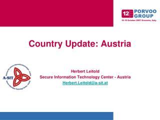 Country Update: Austria