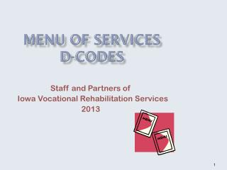 Menu of Services  D-codes