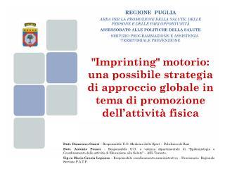 Dott. Domenico Sinesi  – Responsabile U.O. Medicina dello Sport -  Policlinico di Bari