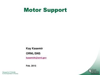 Motor Support