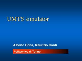 UMTS simulator