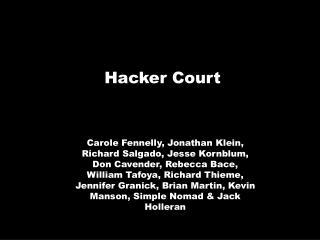 Hacker Court